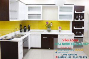 Tủ Bếp Nhôm Kính cao Cấp Giá Rẻ tại huyện Mang Thít - Vĩnh Long 1
