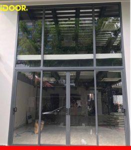 Cửa nhôm kính cường lực Thành phố Tân An