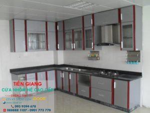 tủ bếp nhôm kính cao cấp giá rẻ tại huyện Châu Thành - Tiền Giang 1