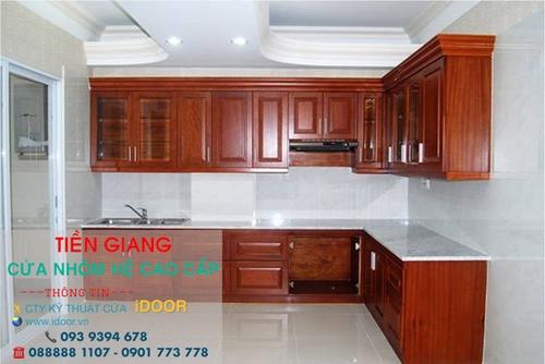 tủ bếp nhôm kính cao cấp giá rẻ tại huyện Châu Thành - Tiền Giang 2