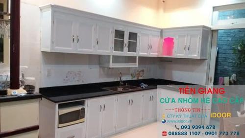 tủ bếp nhôm kính cao cấp giá rẻ tại huyện Chợ Gạo - Tiền Giang 1