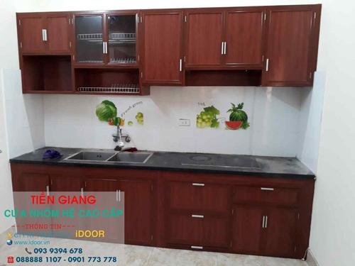 tủ bếp nhôm kính cao cấp giá rẻ tại huyện Chợ Gạo - Tiền Giang 2