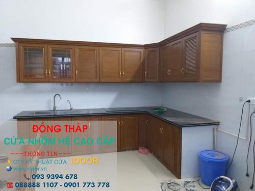 Tủ Bếp Nhôm Kính Cao Cấp Giá Rẻ tại huyện Tân Hồng - Tỉnh Đồng Tháp