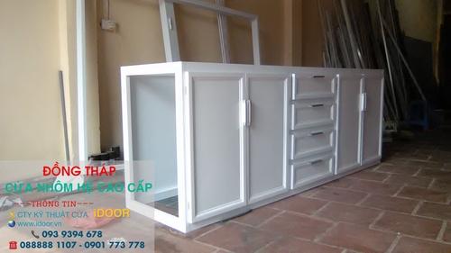 tủ bếp nhôm kính cao cấp giá rẻ tại Đồng Tháp 2