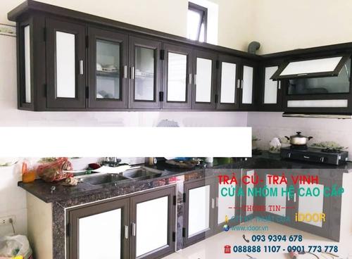 tủ bếp nhôm kính cao cấp giá rẻ tại huyện Trà Cú - Trà Vinh