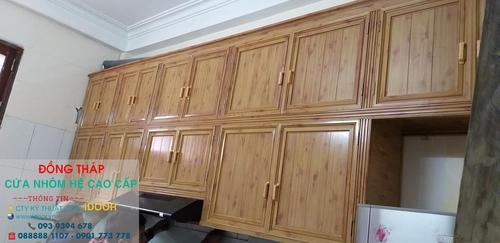 Tủ Bếp Nhôm Kính cao Cấp Giá Rẻ tại huyện Tháp Mười - Tỉnh Đồng Tháp