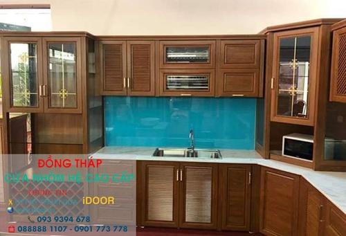 Tủ Bếp Nhôm Kính cao Cấp Giá Rẻ tại huyện lấp lò - Tỉnh Đồng Tháp 3