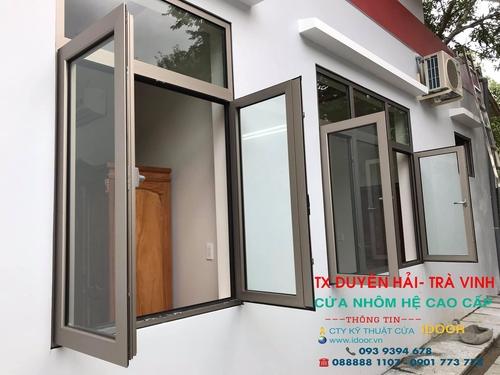 cửa kính cường lực tại huyện Duyên Hải - Trà Vinh