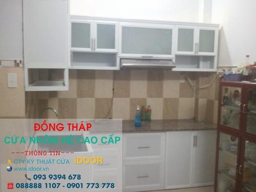 tủ bếp nhôm kính cao cấp giá rẻ tại huyện Châu Thành – Tỉnh Đồng Tháp 1