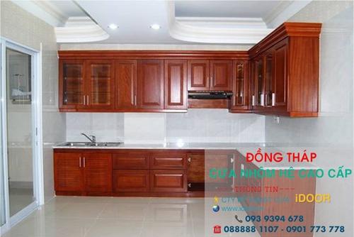 tủ bếp nhôm kính cao cấp giá rẻ tại huyện Châu Thành – Tỉnh Đồng Tháp 2