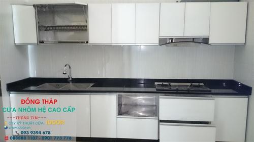 tủ bếp nhôm kính cao cấp giá rẻ tại huyện Châu Thành – Tỉnh Đồng Tháp 3