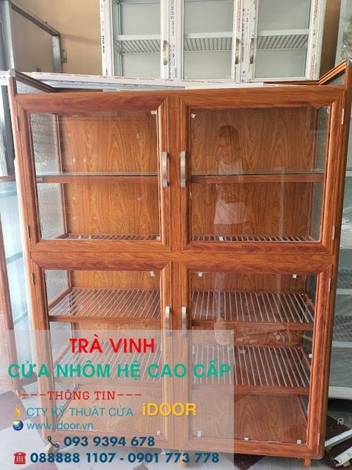 tủ bếp nhôm kính cao cấp giá rẻ tại huyện Cầu Kè - Trà Vinh