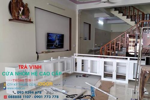 tủ bếp nhôm kính cao cấp giá rẻ tại huyện Cầu Kè - Trà Vinh 2