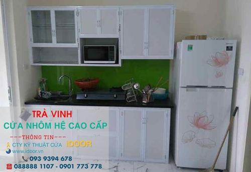 tủ bếp nhôm kính cao cấp giá rẻ tại huyện Trà Cú - Trà Vinh 1