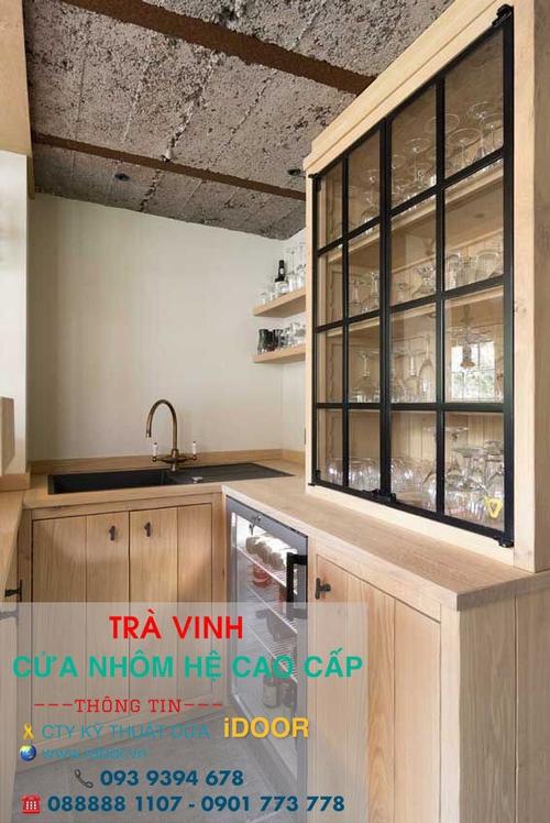 tủ bếp nhôm kính cao cấp giá rẻ tại huyện Trà Cú - Trà Vinh 2
