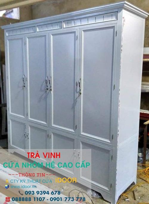 tủ bếp nhôm kính cao cấp giá rẻ tại Trà Vinh 2