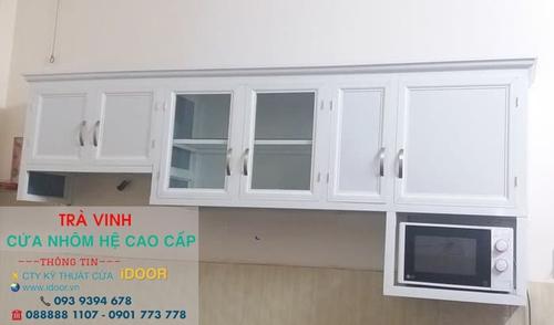 Tủ Bếp Nhôm Kính cao Cấp Giá Rẻ tại huyện Tiểu Cần - Trà Vinh 1