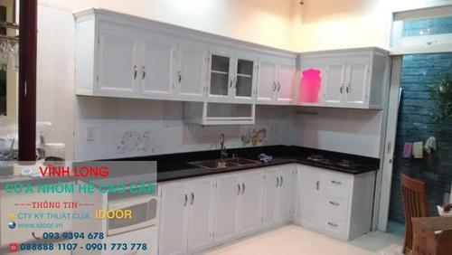 Tủ Bếp Nhôm Kính cao Cấp Giá Rẻ tại huyện Mang Thít - Vĩnh Long 2