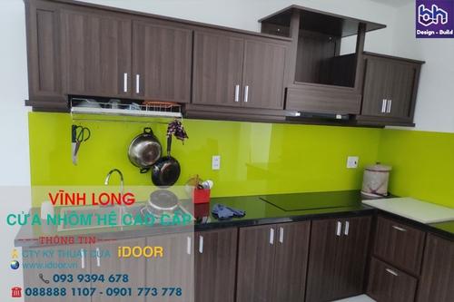 Tủ bếp nhôm kính cao cấp giá rẻ tại Vĩnh Long 1