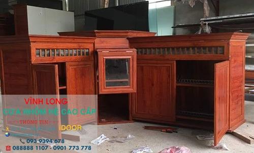 Tủ bếp nhôm kính cao cấp giá rẻ tại Vĩnh Long 2