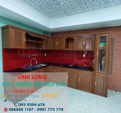 Tủ bếp nhôm kính cao cấp giá rẻ tại huyện Long Hồ- Vĩnh Long 1
