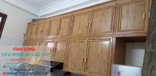 Tủ Bếp Nhôm Kính cao Cấp Giá Rẻ tại huyện Mang Thít - Vĩnh Long